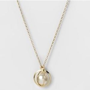 Jewelry - *5 FOR $25* NWT Caged Pearl Pendant Necklace